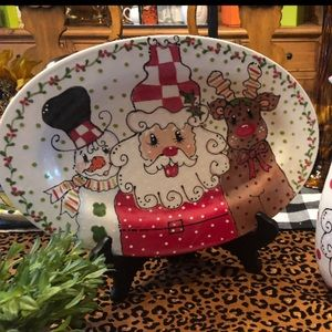 Whimsical Large Hand Painted Christmas Platter!!